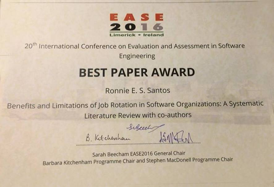 Ease 2016 hase receives best paper award hase human aspects in 133218214895861245734686554411419985212572n 1332193212189416114506435507960537516412585n yelopaper Gallery